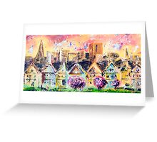 Cloudy Cityscape Greeting Card