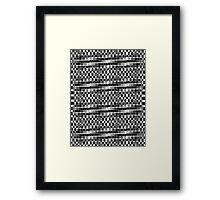 B&W pattern VIII Framed Print