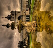 Victorian Majesty , Melbourne -Royal Exhibition Building (IPAD Cover) by Philip Johnson