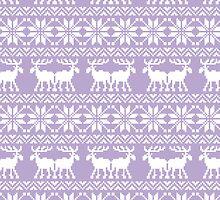 Purple Holiday Ugly Sweater  by RexLambo