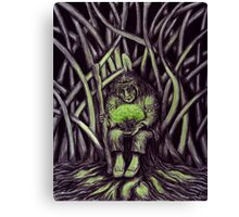 Glow of Life surreal pen ink and colored pencils drawing Canvas Print