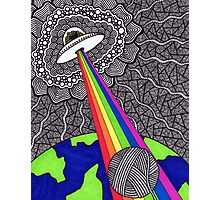 Intergalactic Yarn Thief Photographic Print
