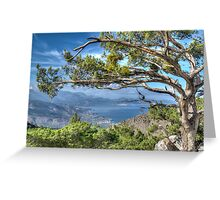 view from the mountains Greeting Card