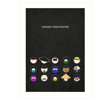 Choose Your Fighter - Minimal Poster Art Print