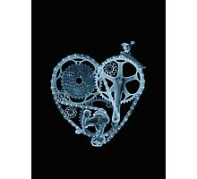 Bike Lover Heart x-ray  Photographic Print