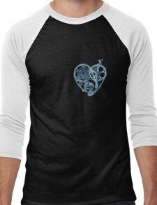 Bike Lover Heart x-ray  Men's Baseball ¾ T-Shirt