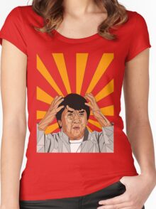 Jackie Chan Meme  Women's Fitted Scoop T-Shirt