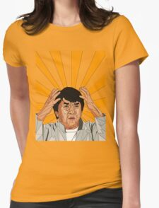 Jackie Chan Meme  Womens Fitted T-Shirt