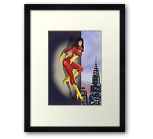Spider-Woman Pin-Up Framed Print
