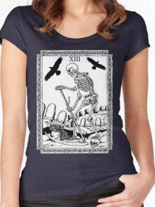 TAROT: Death Women's Fitted Scoop T-Shirt