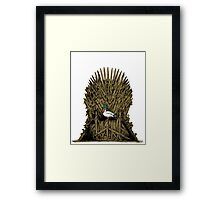 A Game On Throne Framed Print