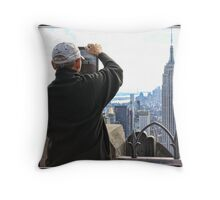 Framing the Empire State Building Throw Pillow