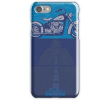 vintage harley poster  iPhone Case/Skin