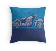 vintage harley poster  Throw Pillow