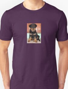 A Discontented and Wet Rottweiler Puppy  Unisex T-Shirt