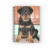 A Discontented and Wet Rottweiler Puppy  Spiral Notebook