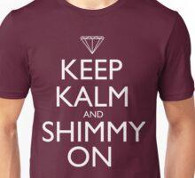 Discreetly Greek - Keep Kalm and Shimmy On Unisex T-Shirt