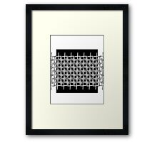 B&W pattern IX Framed Print