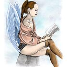 Everyday Reading Angel by Damien Thomasz