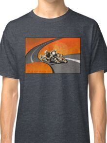 retro motorcycle Isle of Man TT poster Classic T-Shirt