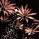 Christmas Tree and Palms Trees by Amyn Nasser