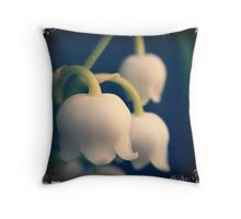 Lilies of the Valley, by Dee Bantz Throw Pillow