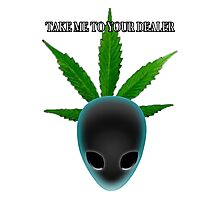 Alien who needs medical marijuana Photographic Print