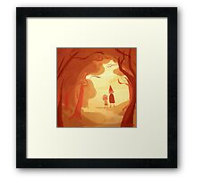 as autumn colors fall Framed Print
