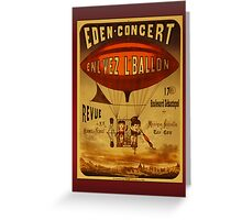 Vintage Eden Concert Hot Air Balloon Greetings Greeting Card