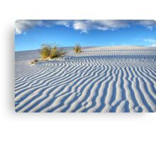 White Sands Blue Sky Canvas Print