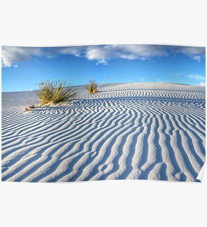 White Sands Blue Sky Poster