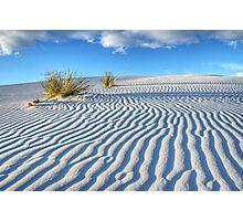 White Sands Blue Sky Photographic Print