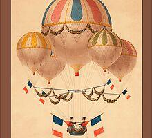 Vintage Hot Air Balloons Greetings by Yesteryears