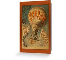 Vintage Italia Hot Air Balloon Greetigns Greeting Card