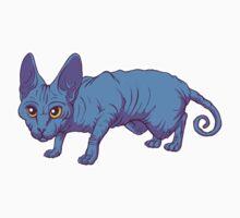 blue sphynx Kids Tee