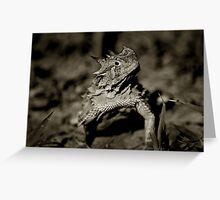Horned Frog Greeting Card