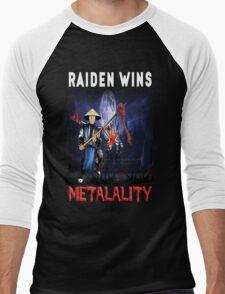 Raiden Wins Metalality (Iron Maiden) Men's Baseball ¾ T-Shirt