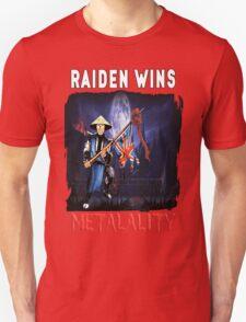 Raiden Wins Metalality (Iron Maiden Concept) T-Shirt
