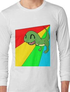 Smiling Dinosaur Long Sleeve T-Shirt