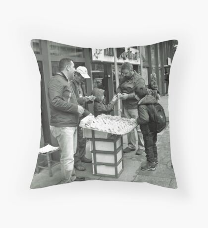 A candid Throw Pillow