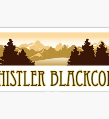 Whistler Blackcomb ski resort truck stop tee  Sticker