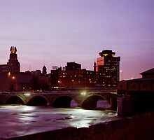 Rochester, NY at Twilight by wolftinz