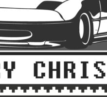 Merry Christmas miata Sticker