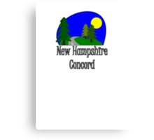 New Hampshire Concord truck stop tee Canvas Print