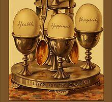 Vintage Eggs Greetings by Yesteryears