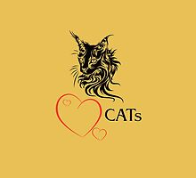 "I-pad case ""Catlovers"" - ""yellow-mellow"" edit by scatharis"