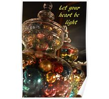 Baubles for Christmas cards Poster