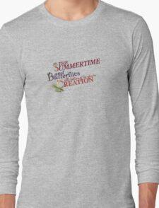 The Summertime and Butterflies Long Sleeve T-Shirt