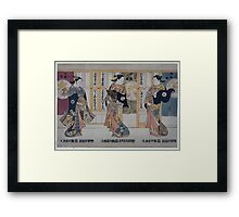 Beauties of the three capitals triptych 001 Framed Print