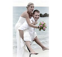 Groom and Bride Photographic Print